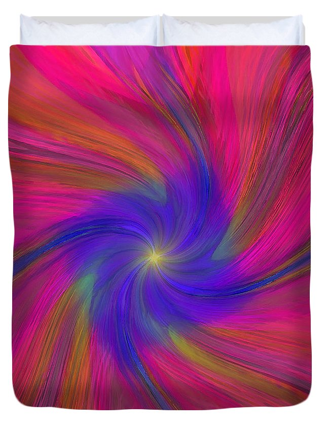 Abstract Duvet Cover featuring the digital art Lambent by ME Kozdron