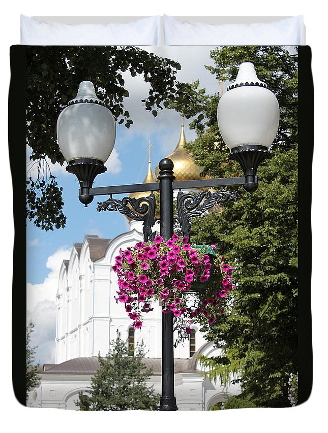 Shot Duvet Cover featuring the photograph Lantern by Evgeny Pisarev