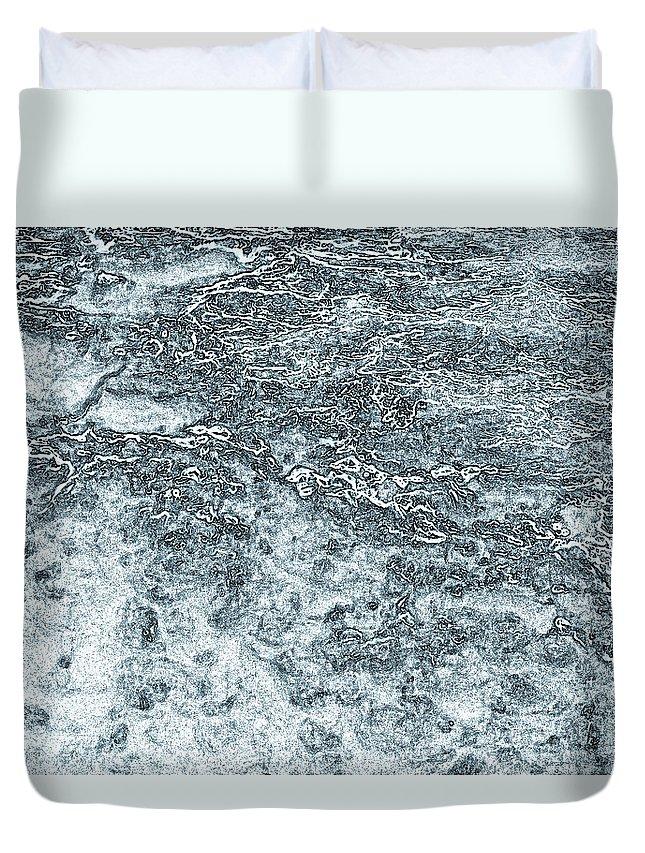 Lava Duvet Cover featuring the digital art Lava Abstract by David Pyatt