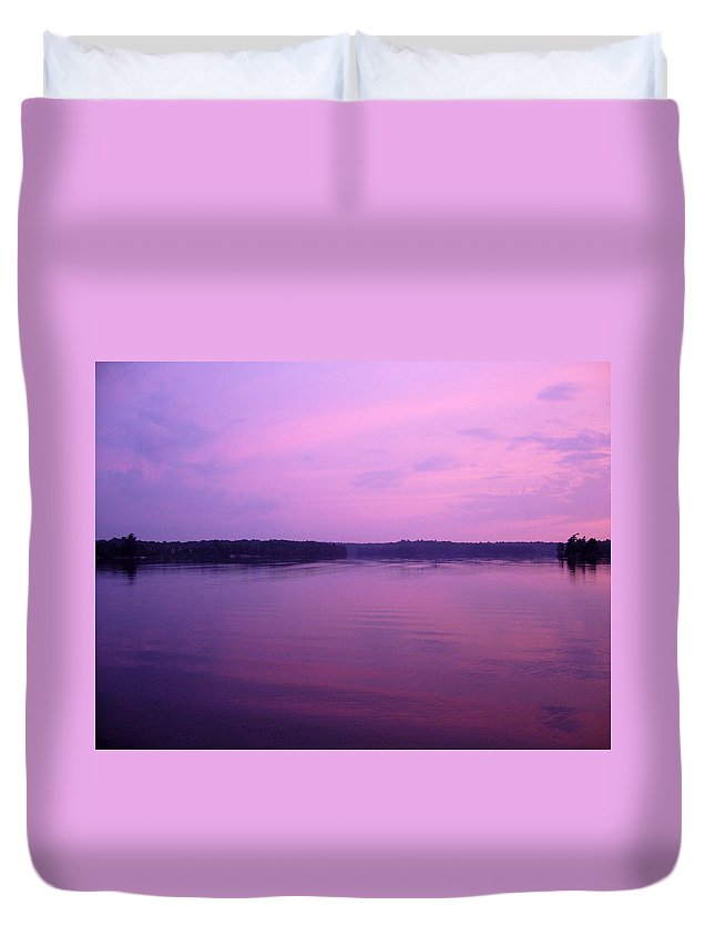 Sunset Duvet Cover featuring the photograph Lavender Glow by Shirley Radebach