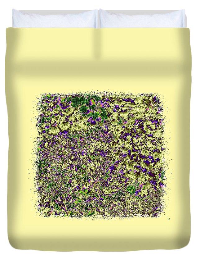 Lavish Leaves Duvet Cover featuring the digital art Lavish Leaves 6 by Will Borden