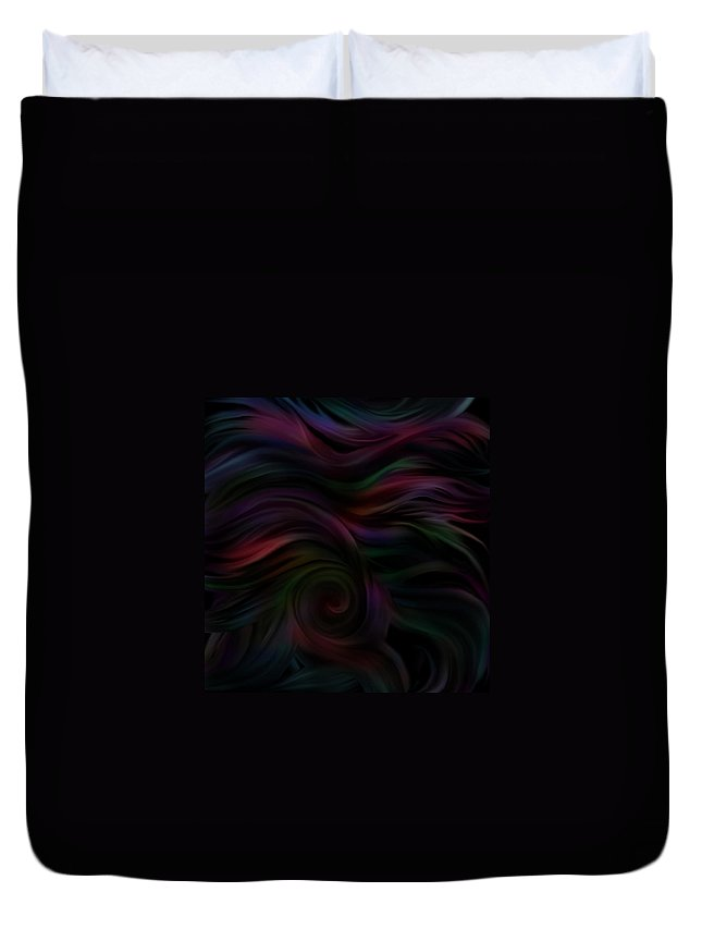 Dark Duvet Cover featuring the digital art Layers Of Lies In The Dark by BJ Crank