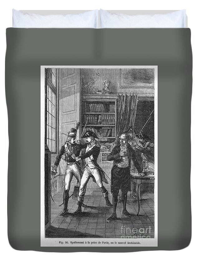 18th Century Duvet Cover featuring the photograph Lazzaro Spallanzani by Granger