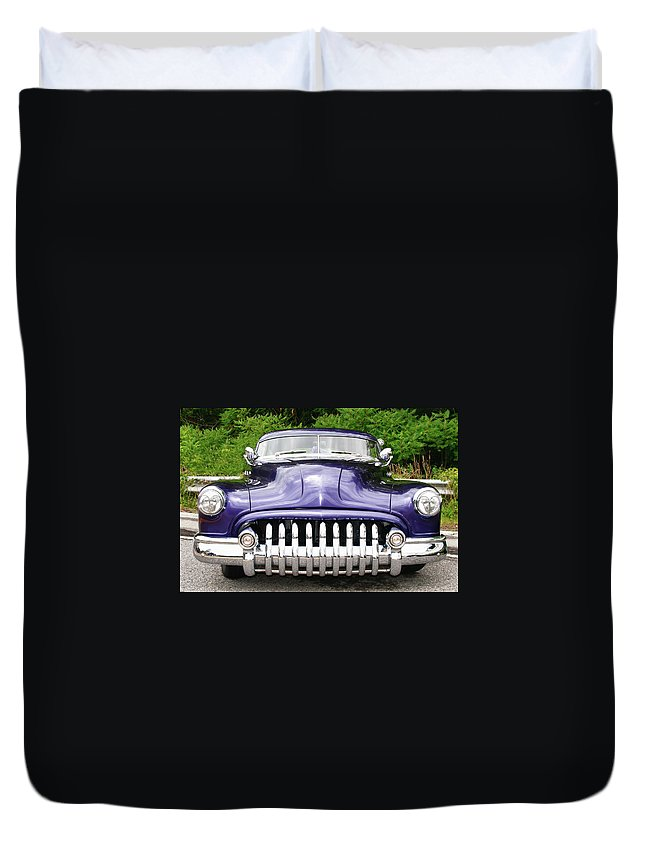 Automobile Duvet Cover featuring the photograph Lead Sled  7768a by Guy Whiteley