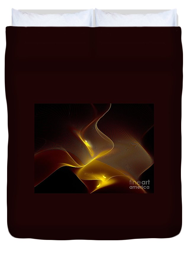 Fractal Duvet Cover featuring the digital art Leaning Into Each Other by Klara Acel