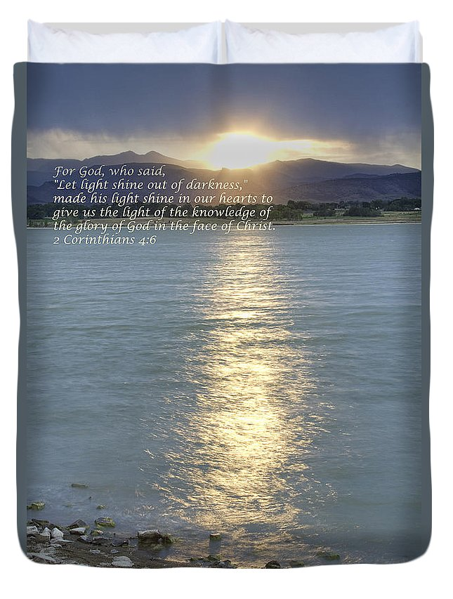 God Duvet Cover featuring the photograph Let Light Shine Out Of Darkness by James BO Insogna