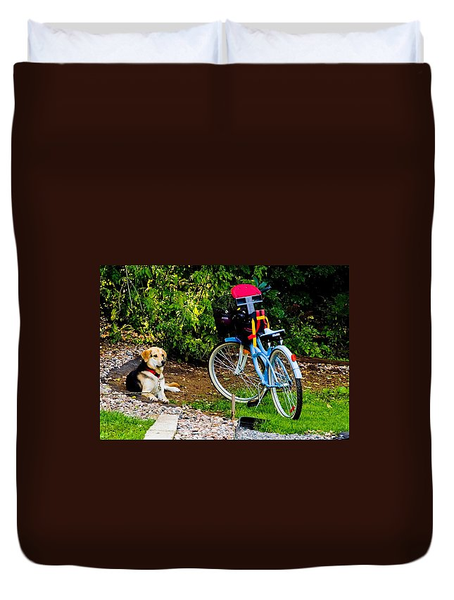 Duvet Cover featuring the photograph Lets Go by Burney Lieberman