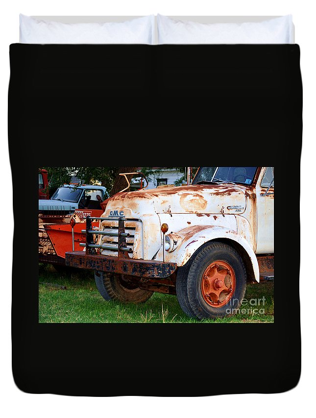 Truck Duvet Cover featuring the photograph Let's Go To Work by Anjanette Douglas