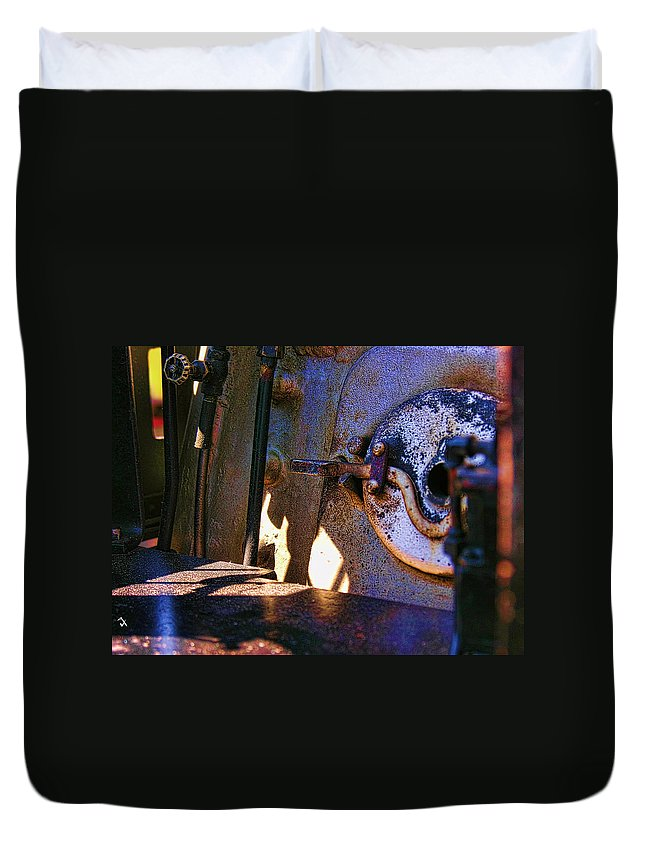 Steam Engine Duvet Cover featuring the photograph Let's Make Some Steam by Adam Vance