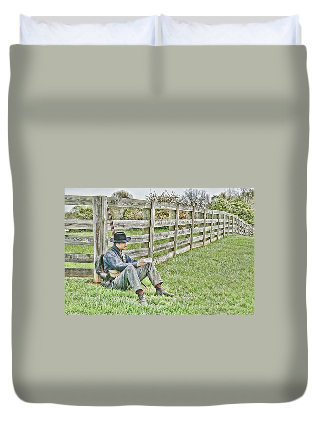 Portrait Duvet Cover featuring the photograph Letters From Home by Rob Narwid