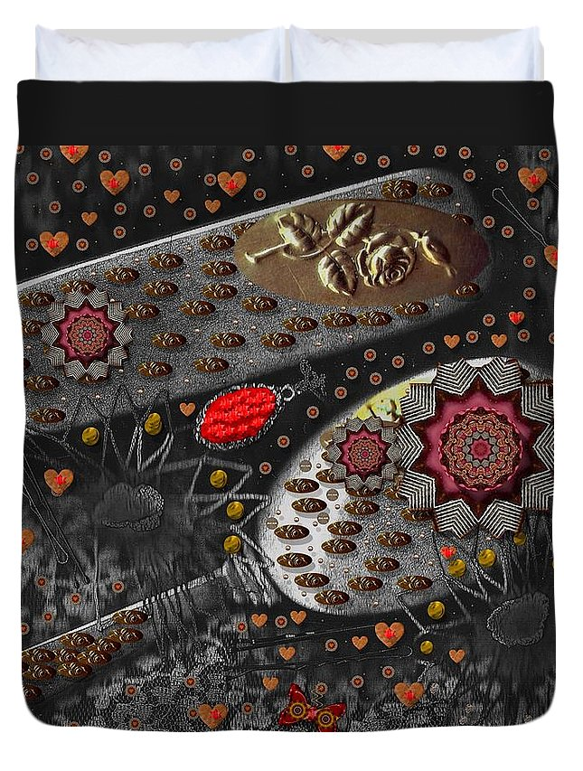 Combs Duvet Cover featuring the mixed media Liberation And Cookies by Pepita Selles