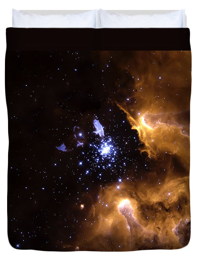 Nebula Duvet Cover featuring the photograph Life Cycle Of Stars by Jennifer Rondinelli Reilly - Fine Art Photography
