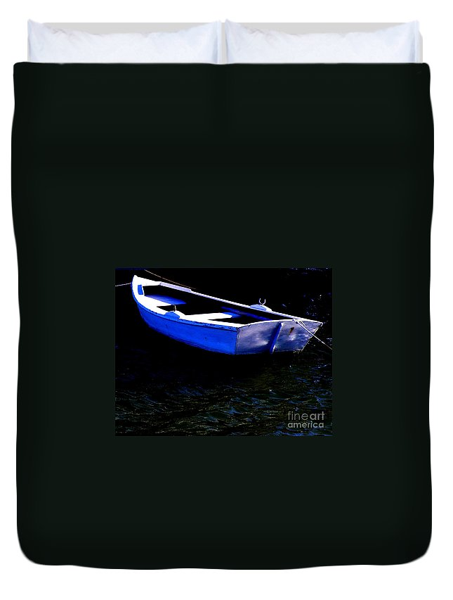 Row-boat Duvet Cover featuring the photograph Life Is But A Dream by Lainie Wrightson