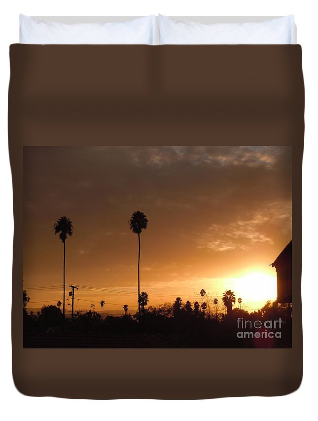 Sun Set Duvet Cover featuring the photograph Life Source... by Customikes Fun Photography and Film Aka K Mikael Wallin