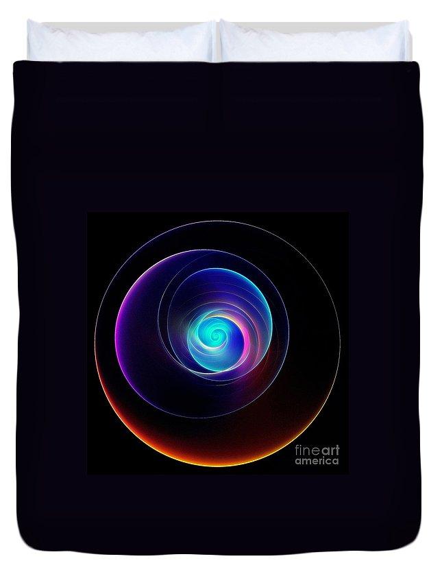 Light Show Duvet Cover featuring the digital art Light Show by Klara Acel