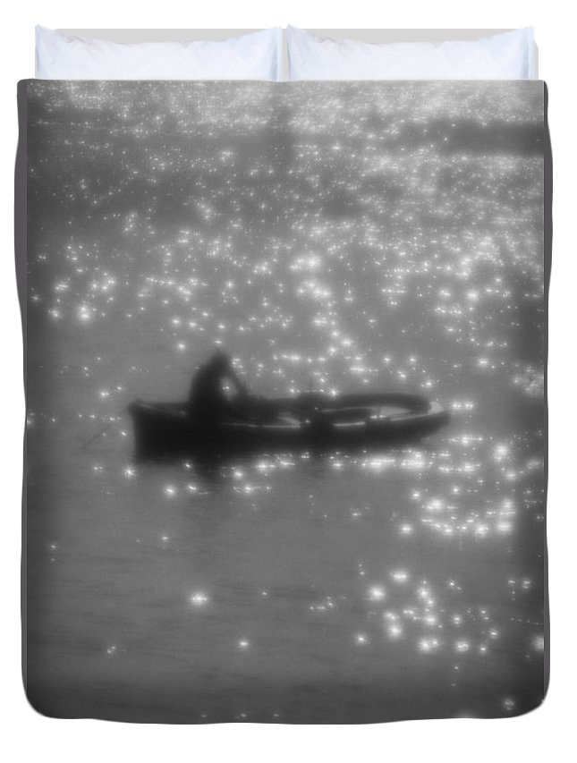 Boat Duvet Cover featuring the photograph Light Surface by Michele Mule'