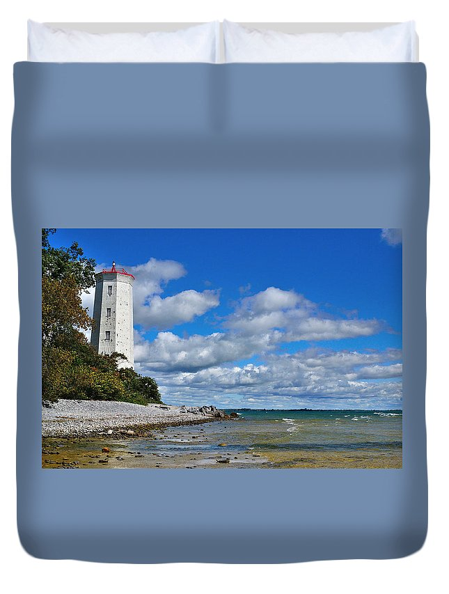Lighthouse Duvet Cover featuring the photograph Lighthouse Dream by Joshua McCullough