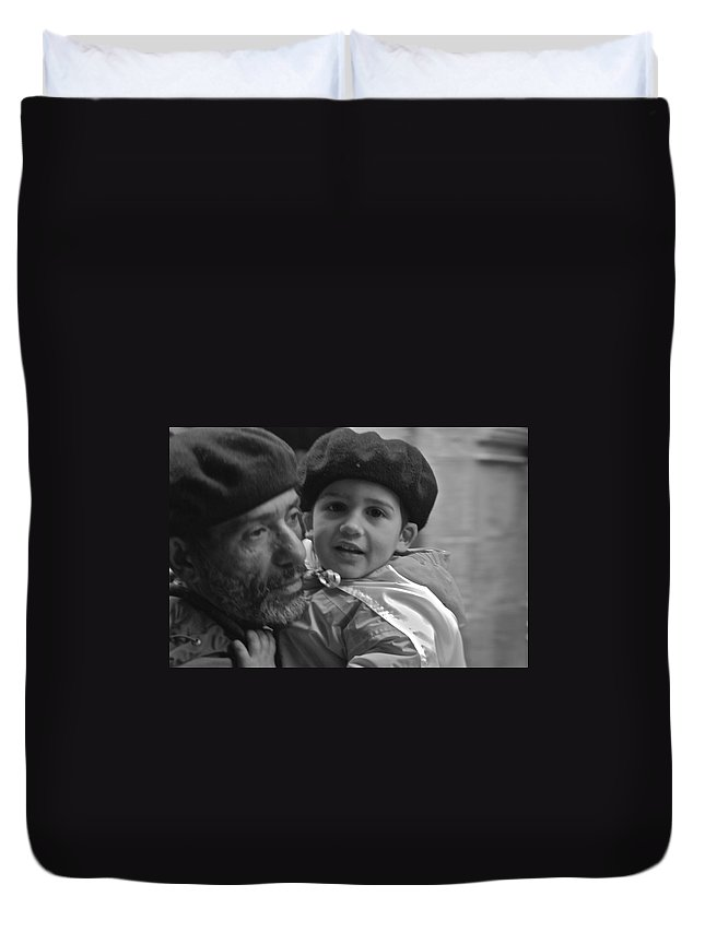Father Duvet Cover featuring the photograph Like Father Like Son by Eric Tressler