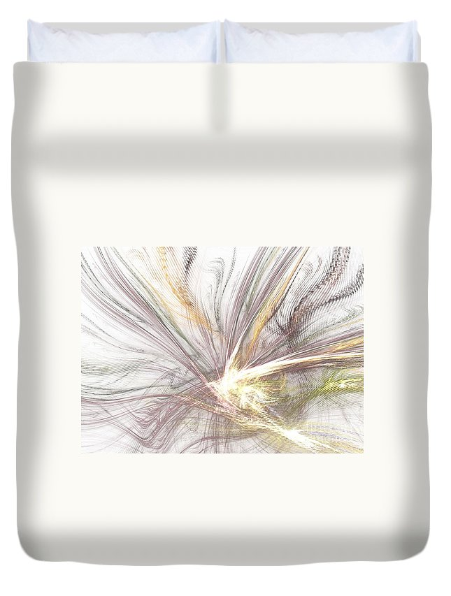 Apophysis Duvet Cover featuring the digital art Lilac by Kim Sy Ok