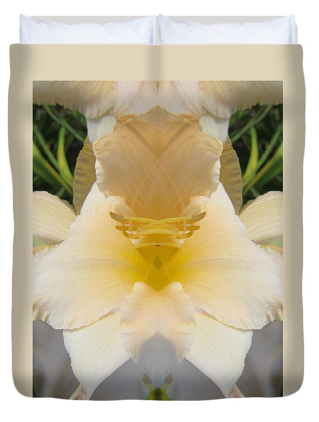 Color Blend Duvet Cover featuring the digital art Lily Cloud by Michele Caporaso