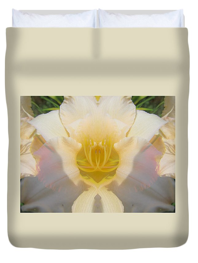 Color Blend Duvet Cover featuring the digital art Lily Clouds by Michele Caporaso