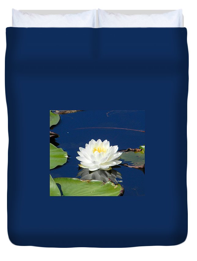 Water Lily Duvet Cover featuring the photograph Lily Dreams by Jennifer Stockman