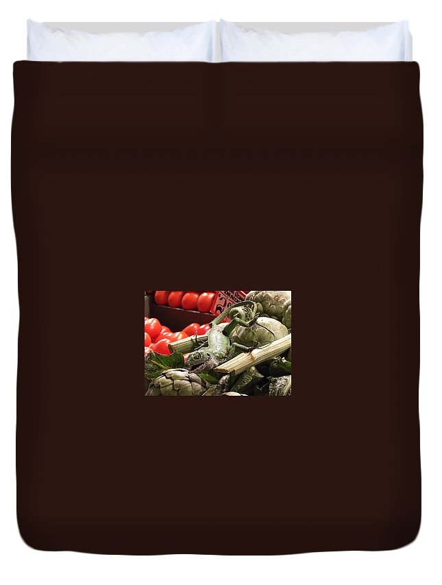 Vegetables Duvet Cover featuring the photograph Little Buddy by Christie Starr Featherstone