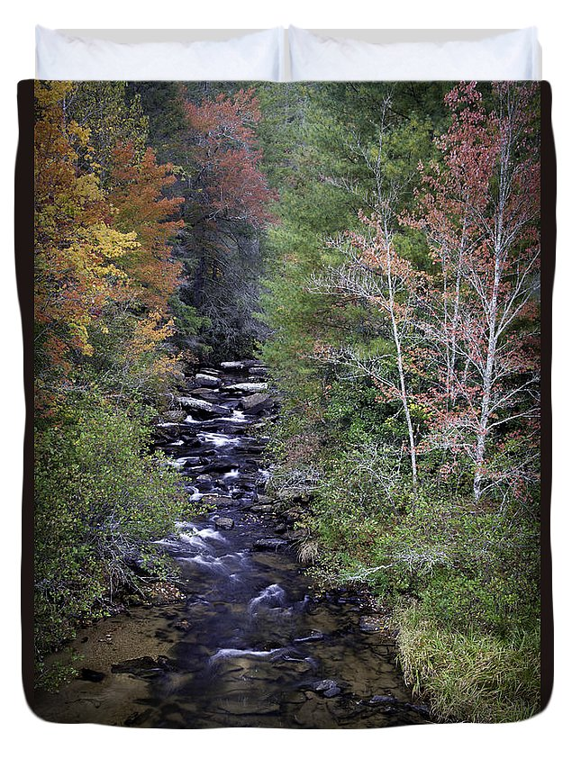 River Photographs Duvet Cover featuring the photograph Little River - North Carolina Autumn Scene by Rob Travis