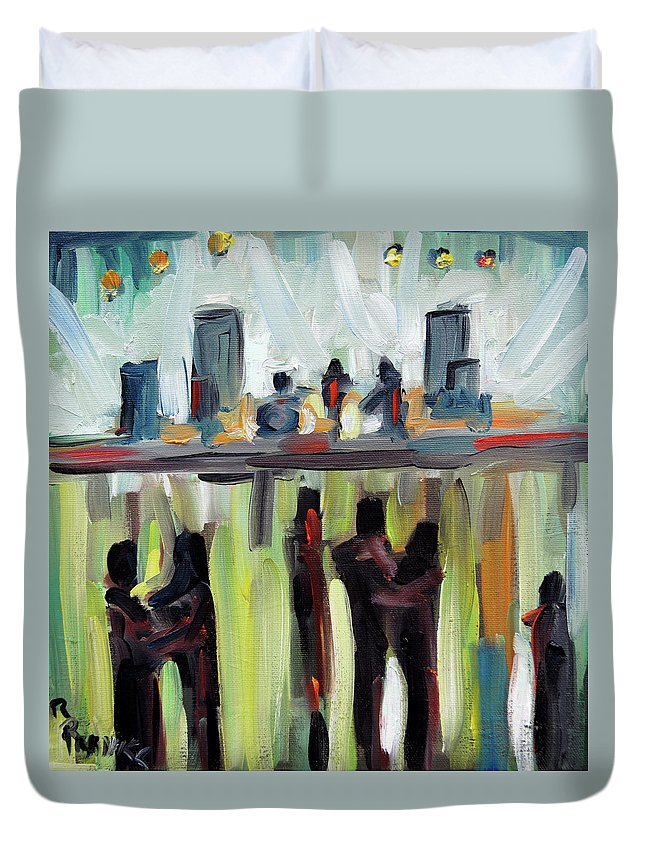 Art Duvet Cover featuring the painting Live Show By Prankearts by Richard T Pranke