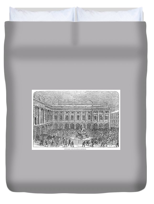 1854 Duvet Cover featuring the photograph Liverpool Exchange, 1854 by Granger