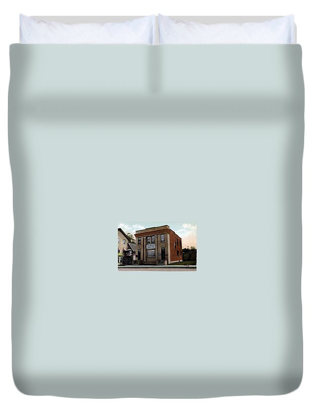 Ny Duvet Cover featuring the photograph Livingston Manor Ny - National Bank by Ericamaxine Price