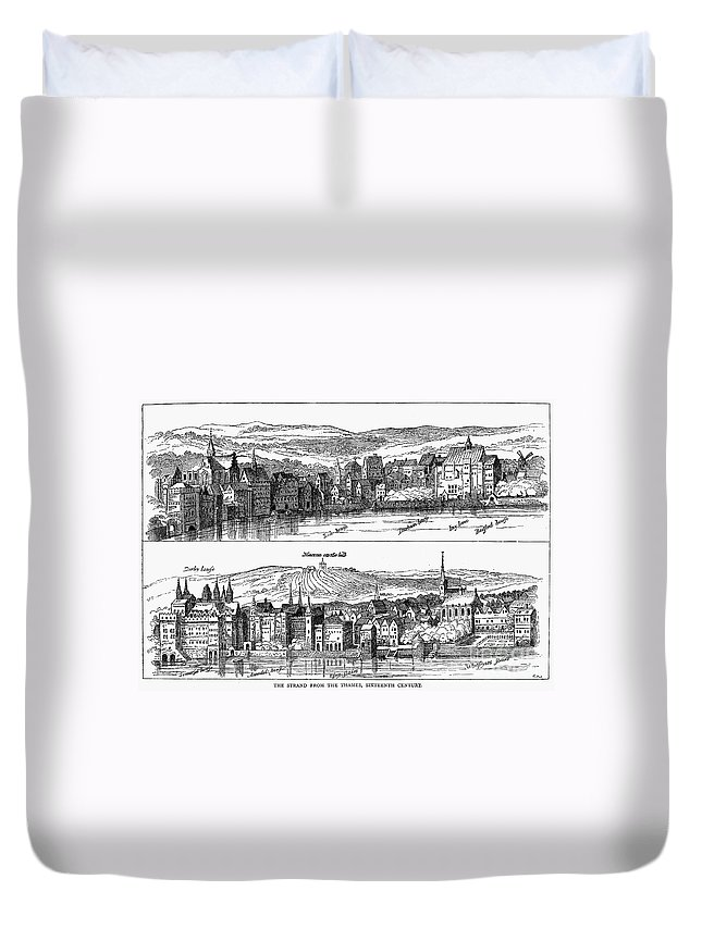 16th Century Duvet Cover featuring the photograph London, 16th Century by Granger