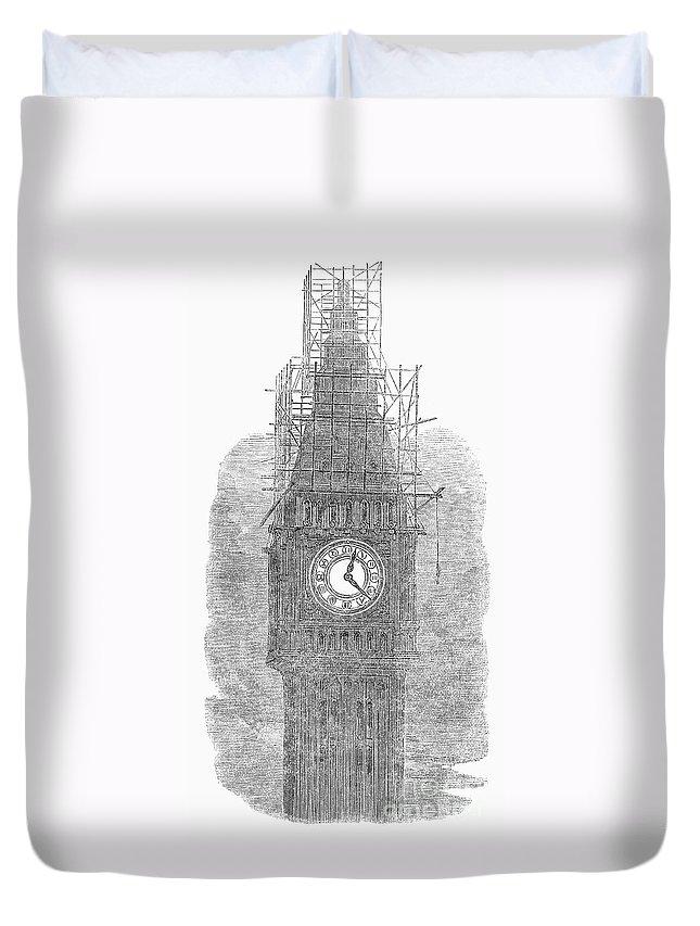 1856 Duvet Cover featuring the photograph London: Big Ben, 1856 by Granger