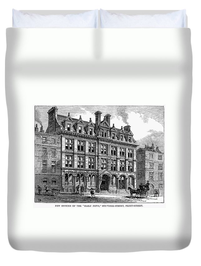 1885 Duvet Cover featuring the photograph London: Daily News, 1885 by Granger