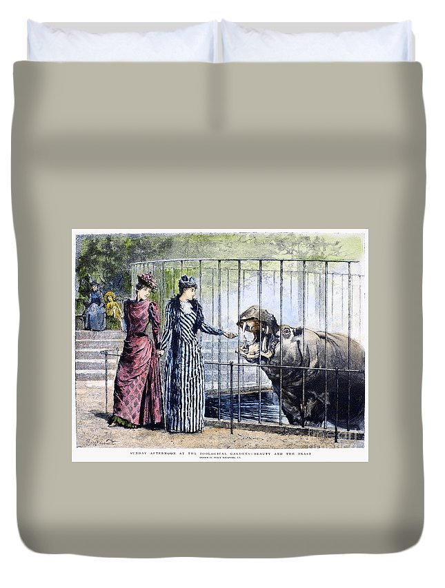 1891 Duvet Cover featuring the photograph London Zoo, 1891 by Granger