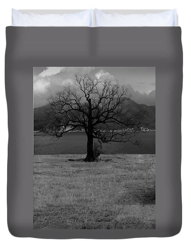 Tn Duvet Cover featuring the photograph Lonely by Ericamaxine Price