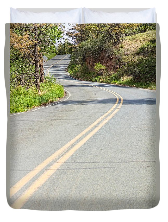 Roads Duvet Cover featuring the photograph Long And Winding Road by James BO Insogna