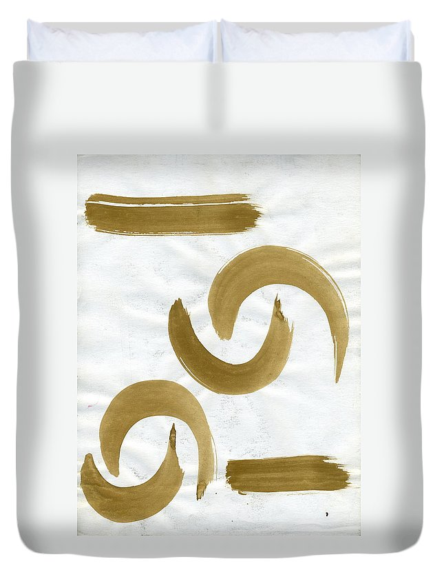 Loose Ends Duvet Cover featuring the painting Loose Ends by Taylor Webb