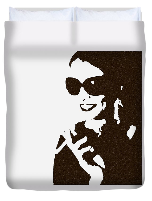 Woman Duvet Cover featuring the photograph Lora by Naxart Studio