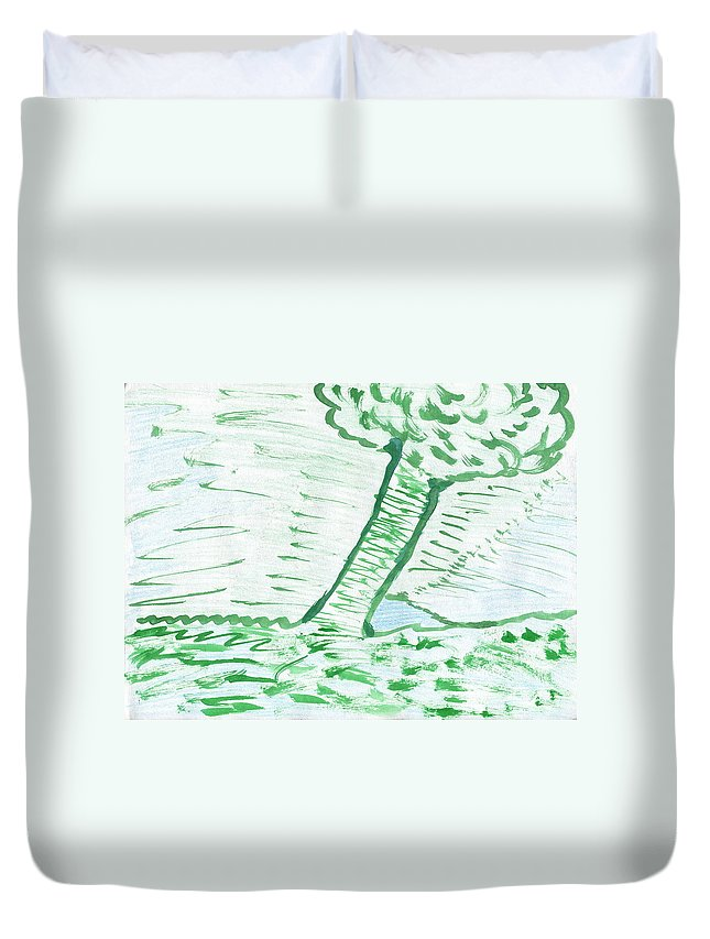 Lost Dams Duvet Cover featuring the painting Lost Dams by Taylor Webb
