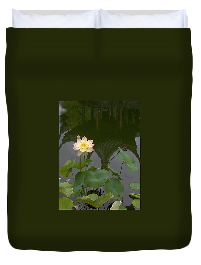 Lotus Duvet Cover featuring the photograph Lotus 2 by Catherine Helmick