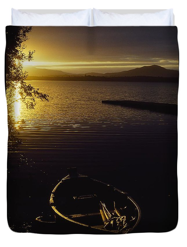 Boat Duvet Cover featuring the photograph Lough Leane, Lakes Of Killarney by The Irish Image Collection