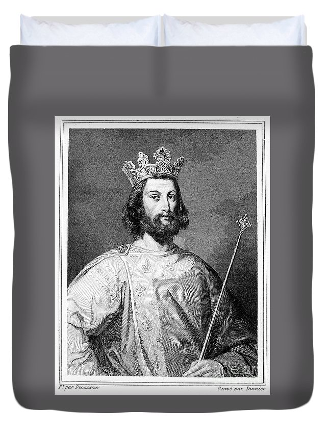 12th Century Duvet Cover featuring the photograph Louis Vii (1121?-1180) by Granger