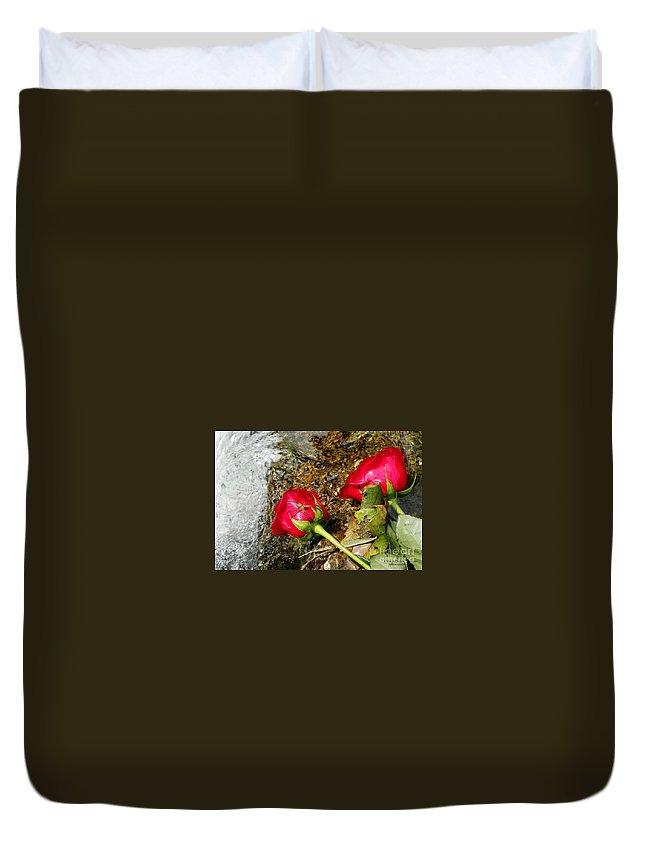 Rose Duvet Cover featuring the photograph Love Bites by Tisha Clinkenbeard