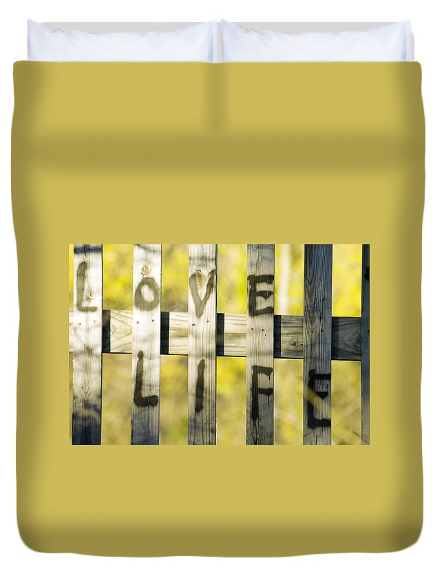 Love Life Duvet Cover featuring the photograph Love Life by Optical Playground By MP Ray