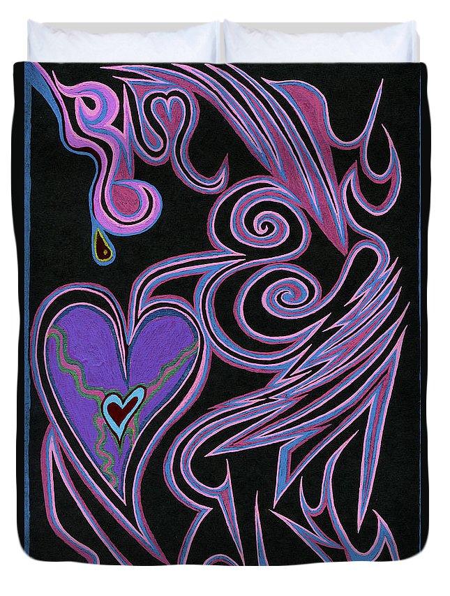Love So Precious Duvet Cover featuring the digital art Love So Precious by Kenneth James