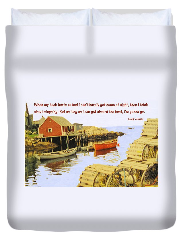 Lobster Duvet Cover featuring the photograph Love What You Do by Ian MacDonald