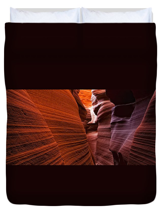 Light Duvet Cover featuring the photograph Lower Antelope Canyon, Arizona by Robert Postma