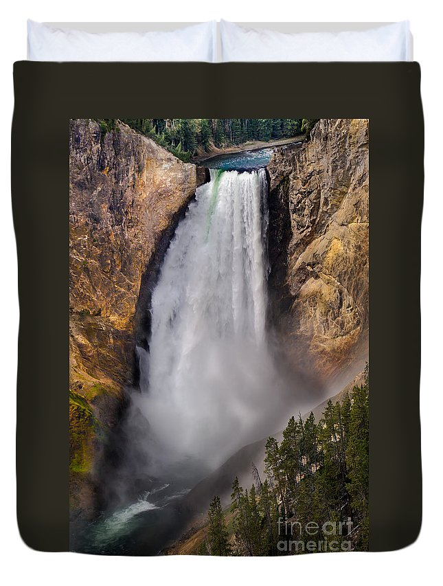Scenic Duvet Cover featuring the photograph Lower Falls II by Robert Bales