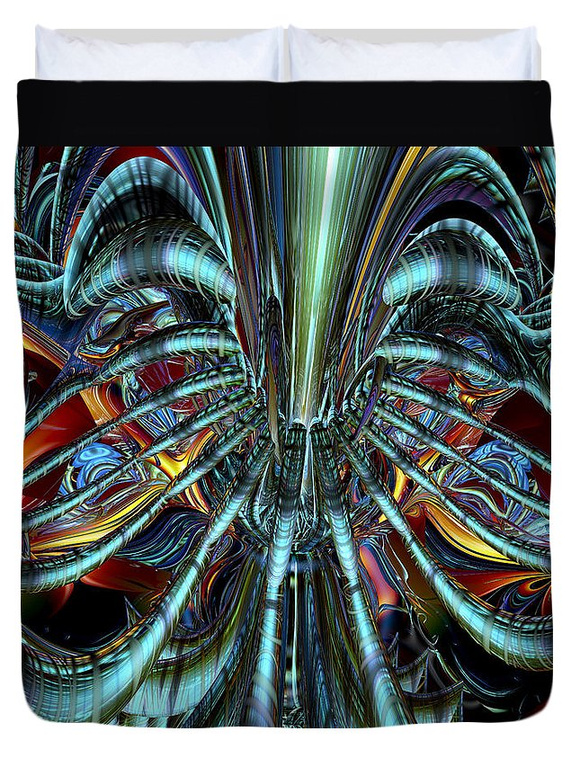 Canvas Duvet Cover featuring the photograph Lsd Nigthmare And Trips Fx by G Adam Orosco